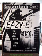 EASY-E POSTER Home 4 tha Sick 3x5 ft Eric Lynn Wright GANGSTA RAP HIP HOP N.W.A.