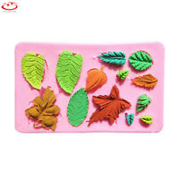 3D Leaves Silicone Fondant Mold Cake Decor Chocolate Baking Sugarcraft Mold Tool