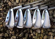 Polished Set of 5 x John Letters MM Forged Prototype Irons 3-7 Stiff Steel Shaft