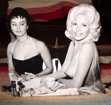 """Jane Mansfield & Sophia Loren """"1950's Hollywood Stars"""" Tabletop Display Standee"""