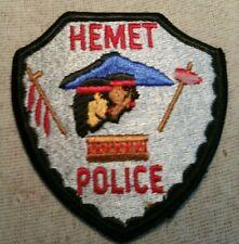 CA Hemet California Police Patch