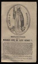 santino grabado 1800 EXPLICACIÓN MEDALLA DE SAN BENITO