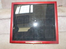 Htf 2011 Red Hat Society Birthstone Pin Collection Pinback Display Case