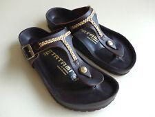 TATAMI BIRKENSTOCK Exquisit Leather Sandals GIZEH Brown EU37 US6-6.5 UK4 Regular