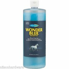 Farnam Wonder Blue 32 Oz Squeeze Bottle Horse Shampoo W/Aloe Vera 32502