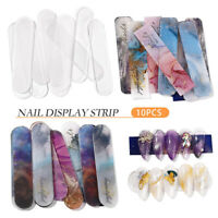 10X Nail Art Acrylic Polish Display Cards Tips Strip Holder Manicure Chart Tool