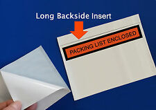 """50 - 7 x 5 1/2"""" Packing List Enclosed Envelopes Box Large Long Slips Packaging"""