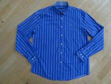 GANT mens dark blue white stripe long sleeve designer shirt SIZE XXL AUTHENTIC