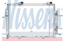 NISSENS Radiador, refrigeración del motor MERCEDES-BENZ CLK SLK CHRYSLER 62616