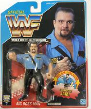Hasbro WWF Series 3 Big Boss Man Blue Card Vintage Wrestling Figure WWE MOC 1992