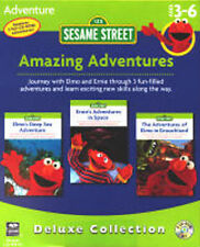 Sesame Street Amazing Adventures   3 PC GAMES  New in Box  Join Elmo and Ernie