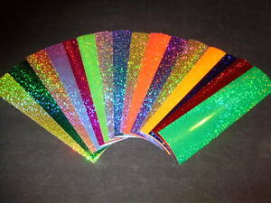 """12"""" x 8"""" Sheet Sparkle Holographic Fishing Lure Tape 17 In Colors"""
