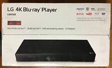 LG Ultra HD 4K 3D Blu-Ray Player DVD CD Black - UBKM9 New