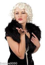 LADIES FILM MOVIE STAR 1950S 50S BLONDE SHORT WAVY CURLY FANCY DRESS COSTUME WIG