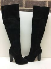 ALDO Black Suede High Heel Over The Knee Thigh High Boots Women's Size 7.5