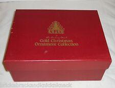 "DANBURY MINT ""2004 GOLD ORNAMENTS"" COMPLETE SET OF 12 IN BOX, 23K, EUC!"