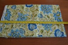 By 1/2 Yd, Blue Floral on Creamy-Yellow Quilting Cotton, P&B/Persia/681-B, M9094