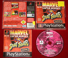PS1 Game MARVEL SUPER HEROES vs STREET FIGHTER AU/EUR/UK PAL PlayStation
