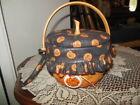 Longaberger 1997 Halloween Small Pumpkin Basket, Liner, Protector, Lid & Tie-on