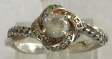 Stunning Vintage Sterling Silver 925 Cubic Zirconia Engagement Ring Sz 7.25 AU30
