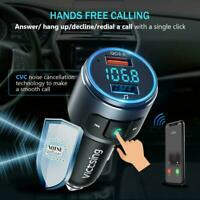 Wireless Car Bluetooth FM Transmitter MP3 Music Player Radio Adapter USB Charger