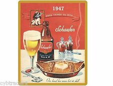 1947 Schaefer Beer Cocker Spaniel Refrigerator / Tool Box Magnet NEW!