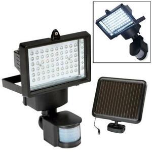 Solar Powered Motion Sensor Outdoor Garden 60 LED PIR Security Light Floodlight