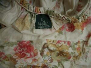 Ralph Lauren Great Barrington floral queen fitted Sheet excellent condition