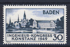 Fr. Zone Baden Mi. Nr. 46I  Ingenieur -Kongress, Fälschung, Reproduktion