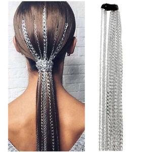Elegant Women Siliver Chain Hair Clips Hairpin Tassels Hair Accessories Girl*wk