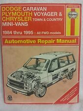 Dodge Caravan Plymouth Voyager Chrysler Town & Country 1984 - 1995 Haynes manual