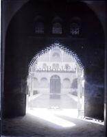 ESPAGNE Andalousie Grenade Alhambra, NEGATIF Photo Stereo Plaque Verre VR7L1