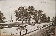 Irish Postcard PHOENIX PARK Wellington Monument Dublin Valentine Illus JV51247