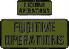 FUGITIVE OPERATIONS EMB PATCH 4X10 AND 2X5 HOOK ON BACK OD GREEN/BLK
