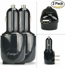 (2 pack) - AMP 2-in-1 Dual Smart USB Ports Home & Car Charger w/Foldable AC W