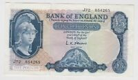 B280 L.K.O'BRIEN £5 J72 BANKNOTE IN MINT CONDITION