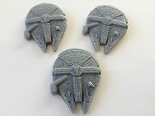 6 Handmade Edible Sugar Star Wars Millennium Falcon Cupcake Toppers Decorations