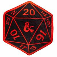 Dungeons & Dragons D20 Shaped Digital Print Throw Blanket