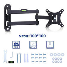 "TV Wall Bracket Mount Tilt & Swivel Swing Arm for 10"" - 32"" Inch LCD LED Monitor"
