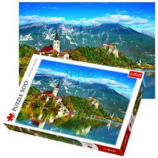 Trefl 500 Piezas Adulto Grande Bled Eslovenia Alpes Julianos Castillo Rompecabezas De Piso