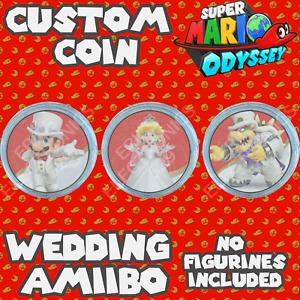 Super Mario Odyssey Series   Wedding Amiibo Custom COIN   Mario, Bowser, Peach