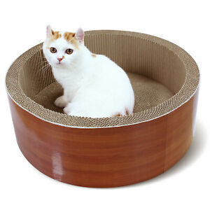 ScratchMe Cat Scratching Cardboard Cat Scratcher Bed Lounge and contains catnip
