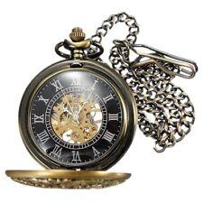 Pocket Watches Pocket Skeleton Mechanical Movement Pocket Watch Unisex L4T5