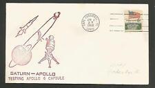 SATURN APOLLO TESTING APOLLO 6 CAPSULE APR 4,1968 CAPE CANAVERAL *