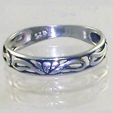 BALI DESIGNER_FILIGREE CROWN BAND STACK RING _SIZE - 6__925 STERLING SILVER