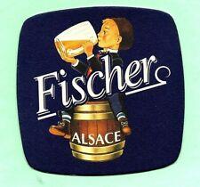 ancien sous-bock  FISCHER  (envoi monde gratuit) sb1413