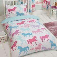patchwork poneys Junior bébé DUVET COUVERTURE Ensemble PONEY CHEVAL literie