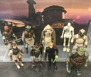 9 Vintage Star Wars Figures - Jabba's Palace (With Weapons & Accessories, 1983)
