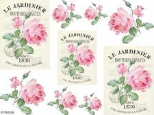 VinTaGe IMaGe PinK RoSe FRenCh PoSTcaRdS SHaBbY WaTerSLiDe DeCALs