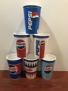 PEPSI COLA WAX PAPER CUP Limited Addition Design   1945-50-59-78-91-98  Unused